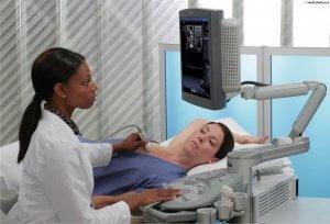 Процедура ультразвукового исследования молочных желез
