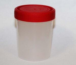 Собираем мокроту на анализ в специальный стерильный контейнер