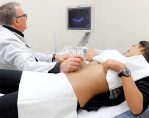 С помощью УЗи можно определить степень поражения печени и селезенки