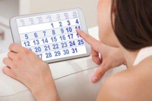 Выбор дня цикла для процедуры
