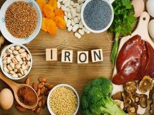 Продукты с содержанием железа